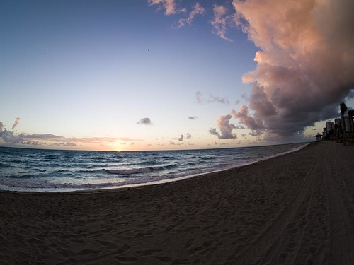 Sun rise, Hollywood Beach, FL