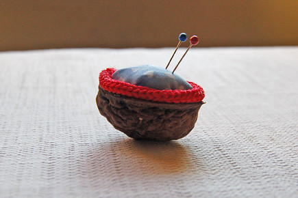 walnut pincushion