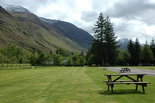 Glen Nevis Campsite and lower slopes of 'the Ben'