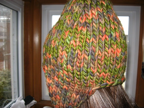 Snowboarder's Hat from Kathy Kreation's pattern in Ligonier, PA.