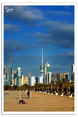 Beautiful Kuwait (Hussain Shah.) Tags: city blue sky beautiful clouds d50 nikon capital sigma kuwait 70300mm kuwaiti shah hussain muwali