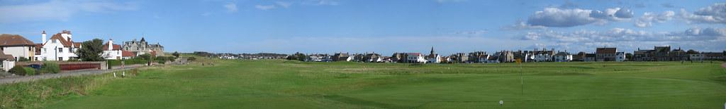 Green No. 8 & Hole No. 17, Golf House Club, Elie, Scotland