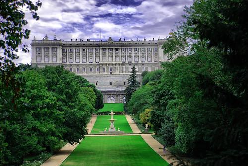 Madrid. Palacio Real desde el Campo del Moro