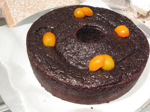 Suzanne Goin's 70's Chocolate Bundt Cake with Candied Kumquats