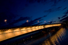 Branko's Bridge, Belgrade (maximarko) Tags: bridge light reflection night nightshot dusk serbia belgrade brankovmost