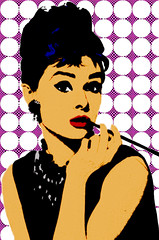 AUDREY By SWeeTCHy 1 (SwEeTcHy) Tags: art photoshop stencil audreyhepburn ps pop popart colourvisions