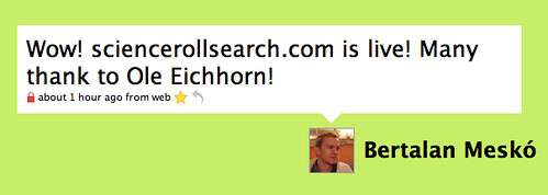 ScienceRoll Search Goes Live!