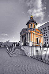 Church (Cvin ) Tags: street camera city sky test house building church architecture digital photoshop canon lens temple eos town high perfect dynamic angle cathedral russia d moscow religion review wide wideangle andrew 45 professional h r pro cloister dslr 35 range ultra hdr highdynamicrange 1022 preview bracketing russianfederation canon1022 superwide cavin photomatix  kuznetsov 40d xhurxh canoneos40d canon40d  cann1022   andrewkuznetsov wwwphotologiaru wwwphotomu