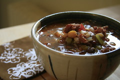 Sausage and 17 Bean Soup (the boastful baker) Tags: food cooking vegetables barley dinner soup beans sausage bean surrysausage beansoup