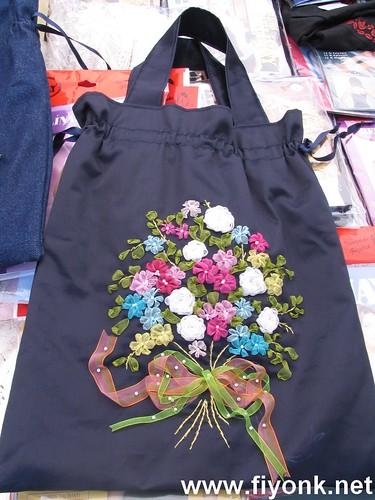kurdele nakışlı çanta