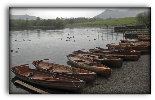 Boats on Derwent shore