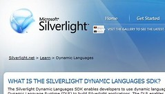 Dynamic Languages on Silverlight.net