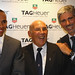 Lewis Hamilton (漢密爾頓) in TAG Heuer (豪雅錶) F1 Party with Sir Stirling Moss (特林‧莫斯爵士) & Damon Hill (戴蒙·希爾)