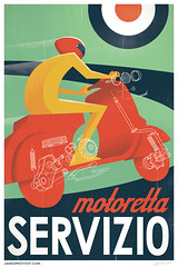 Motoretta Servizio (James Provost) Tags: modern illustration photoshop work vintage print vespa scooter automotive diagram type editorial illustrator vector isometric piaggio assembly midcentury cut