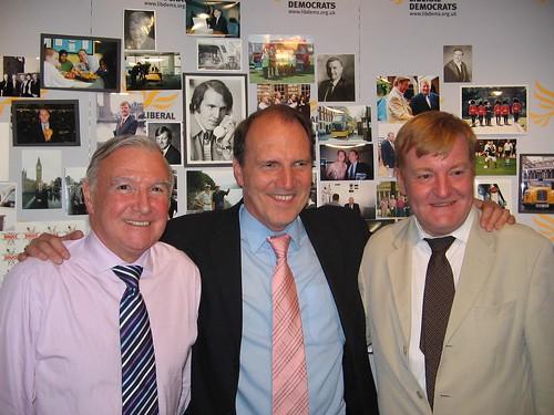 Simon with Malcolm Bruce MP and the Rt. Hon Charles Kennedy MP at their joint 25th Anniversary Party as MP's