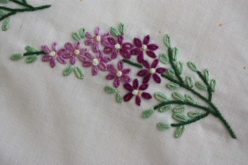 Embroidered Lilacs