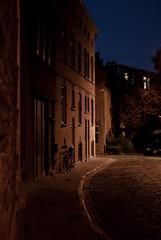 backstreet Ghent (beeldmark) Tags: city bicycle night cycling europa europe belgium belgique belgie pentax nacht belgi 40mm limited smc ghent gent f28 fietsen stad gand fiets pentaxlimited pentaxda smcpentaxda40mmf28limited smcpda40mmf28 beeldmark vlaamsgewest
