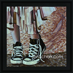 """In her shoes"" (Lin Schorr) Tags: shoes mosaic stainedglassmosaic linschorr mosaicshoes linschorrcom novimiart"
