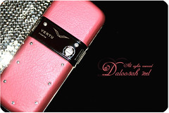..{ MY VERTU ....  Explore !! ( Marron Glac) Tags: pink black swarovski constellation vertu   daloo3ah 7eel daloo3ah7eel