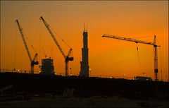 burj dubai construction site image