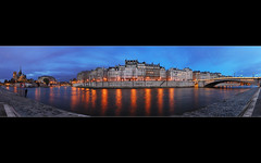 Dusk on Saint-Louis Island Panorama (David Giral | davidgiralphoto.com) Tags: panorama david paris night island evening nikon searchthebest cloudy dusk ile quay d200 saintlouis quai tournelle giral nikond200 18200mmf3556gvr