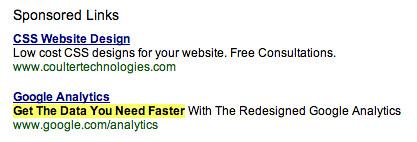 AdSense Ads Index by Google