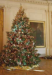 Christmas Tree (East Reception Room, White House) (catface3) Tags: portrait green art gold washingtondc dc holidays whitehouse christmastree ornaments georgewashington presidentshouse architecturalinteriors holidaytour catface3