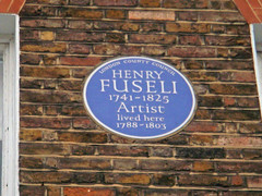 Photo of Henry Fuseli blue plaque