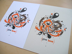 give love (inkdesigner) Tags: boston screenprinting gocco printmaking inker printgocco inkdesigner