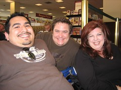 Sitting in line with Tom and our recent Liza fan friend, Michelle. (05/06/2006)
