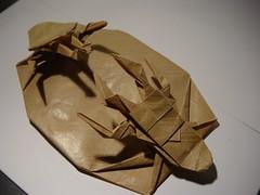 Samurai Helmet bettle vs. Stag Beetle / Hojyo Takashi (origoku) Tags: origami beetle