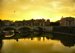 A Golden Sunset in Rome