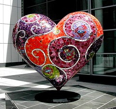 Yerba Buena Mosaic Heart (msdonnalee) Tags: sanfrancisco sculpture orange catchycolors purple heart mosaic  mosaico coeur valentine escultura da valentin cuore herz corazn soe mosaque mosaik heartart   anawesomeshot laureltrue brillianteyejewel brillianteyejewels eldadesanvalentn   photosbydonnacleveland
