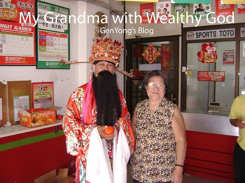 Grandma with wealthy god