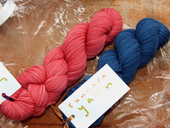 """Guava"" and ""Royal"" Sock Yarn"