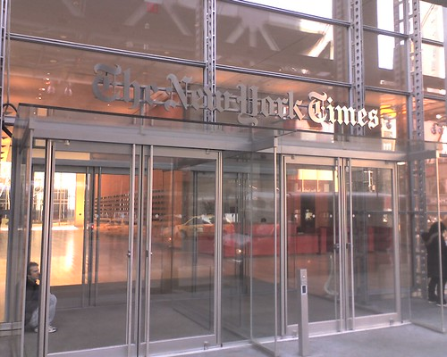 walking up 8th ave  just passed ny times