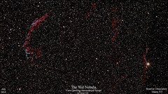 Veil_Nebula_July2016_HomCavObservatory (homcavobservatory) Tags: veil nebula cygnus loop ngc 6960 6692 6995 ic 1340 pickering fleming v homcav observatory canon 700d dslr apo astronomy astrophotography camranger ipad