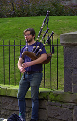 Bagpiper (swong95765) Tags: music bagpipes bagpiper musician tips street busking