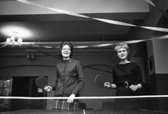 Nursing students play ping pong