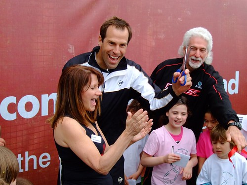 Opening new courst at Coolhurst Tennis Club with Greg Rusedski