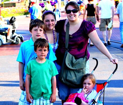 Bri and Kids at Disney