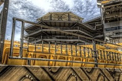 Seats at Heinz FIeld (Dave DiCello) Tags: moon beautiful skyline photoshop sunrise dawn nikon pittsburgh tripod nikkor hdr highdynamicrange heinzfield cs4 andyrussell pittsburghsteelers steelcity photomatix beautifulcities yinzer cityofbridges tonemapped theburgh pittsburgher colorefex cs5 beautifulskyline d700 fanblitz thecityofbridges pittsburghphotography davedicello thepointinpittsburgh pittsburghcityofbridges steelscapes hdrexposed picturesofpittsburgh cityofbridgesphotography