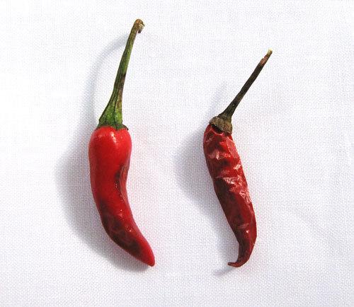 Oven-Dried Chili Pepper