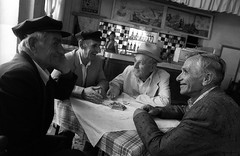 ALBANIA (D J Clark) Tags: old travel men cafe documentary albania korce