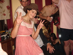 Monica Is Not Drunk (Danny White) Tags: sanfrancisco houseparty mark jimmy monica travis dominique viproom dangraham dangrahamdebut110307