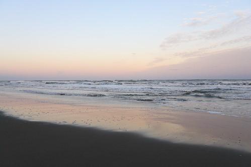 九十九里、東海岸の夕暮れ。。。