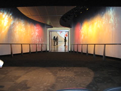 the movie screen lifted up to reveal a hallway (jkenning) Tags: atlanta cocacola worldofcoke 2007 cokemuseum