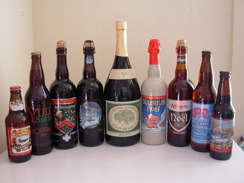 Lineup for Our Winter Beer Tasting