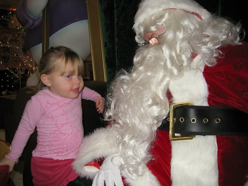 Seeing Santa at the mall