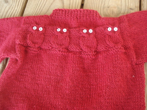 owl sweater - the back has owls, too!